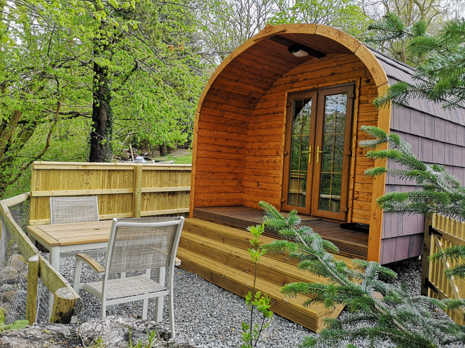 Front View of LIttle Londons Rivers Edge Pod
